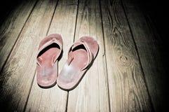 Scheinwerfer-Schuhe Stockfotos