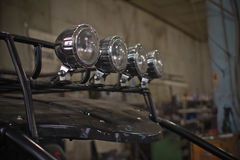 Scheinwerfer von ATV-quadbike Abschluss oben Stockfotos