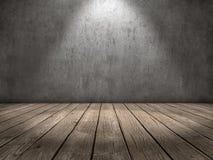 Scheinwerferlichtholzfußboden stockfoto