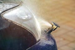Scheinwerferwaschmaschinensystem Stockfoto