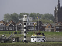 Schelde. The river schelde in belgium Stock Photos
