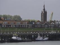 Schelde. The river schelde in belgium Royalty Free Stock Photos