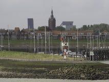 Schelde. The river schelde in belgium Stock Photo
