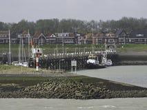 Schelde. The river schelde in belgium Royalty Free Stock Photography