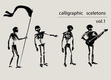 Scheletri calligrafici Fotografie Stock