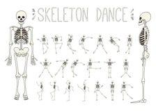 Scheletri di dancing messi royalty illustrazione gratis