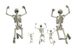 scheletri di salto Fotografia Stock
