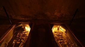 Scheletri in una caverna video d archivio