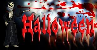 Scheletro del fumetto di Halloween Immagine Stock Libera da Diritti