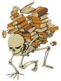 Scheletro del mucchio del libro Immagine Stock