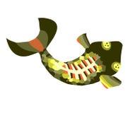 Scheletro del pesce Immagine Stock Libera da Diritti