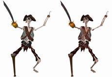 Scheletro del pirata Immagini Stock