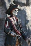 Scheletro del pirata Fotografia Stock Libera da Diritti