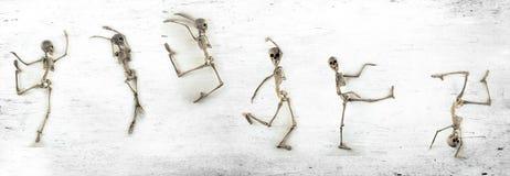 Scheletro di dancing Immagini Stock Libere da Diritti