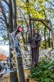 Scheletro di Ronde Halloween della La Immagini Stock Libere da Diritti