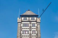 Schelztor porttorn i Esslingen f.m. Neckar, Tyskland Fotografering för Bildbyråer