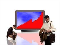 Schema 01 di affari Fotografia Stock