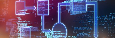 Composite image of schema. Schema  against blue codes Royalty Free Stock Image