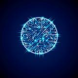 Schema cibernetico futuristico, illustrati del blu della scheda madre di vettore royalty illustrazione gratis