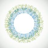 Schema cibernetico futuristico, illustrazione verde e blu della scheda madre di vettore illustrazione vettoriale