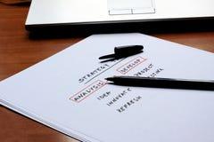 Schema concettuale per una strategia aziendale Fotografia Stock Libera da Diritti