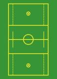 Schema del campo di Lacrosse. Fotografie Stock