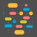 Schema del diagramma di flusso Elementi di Infographics illustrazione di stock