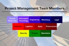 Schema del management team di progetto Fotografia Stock Libera da Diritti