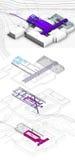 schema del museo nell'accademia nazionale di arti e di architettura (progetto di concetto) Fotografia Stock Libera da Diritti