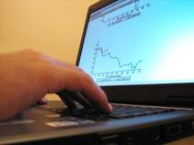 Schema della crisi sul computer portatile Fotografia Stock