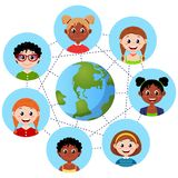 Schema della rete sociale Concetto di comunicazione Immagine Stock Libera da Diritti