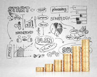 Schema di affari di concetto di successo Immagini Stock Libere da Diritti