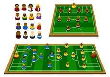 Schema di formazione di calcio Fotografia Stock Libera da Diritti