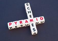 Schema di piramide Fotografia Stock