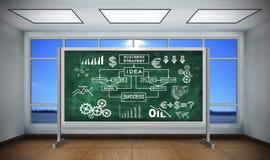 Schema di strategia aziendale del disegno Immagini Stock Libere da Diritti