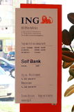 Schema för ING-självbank Arkivbild