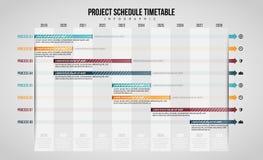 Schema Infographic för projektschema royaltyfri illustrationer