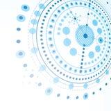 Schema meccanico tridimensionale, vettore blu che costruisce DRA Immagine Stock