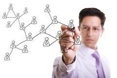 Schema sociale della rete Fotografia Stock