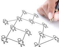 Schema sociale della rete Immagine Stock Libera da Diritti