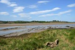 Schema storico alle carcasse di Purton, Gloucestershire, Regno Unito di protezione di erosione di sponda del fiume soggetto alle  immagine stock libera da diritti