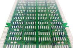Schema verde dei connettori del chip isolato Fotografia Stock Libera da Diritti