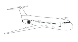 Schematic  airplane Stock Image