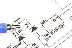 Schematic diagram Stock Images