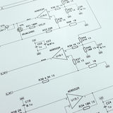 Schematic diagram closeup photo Stock Photography