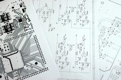 Schematic diagram closeup photo Stock Photo