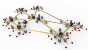 Schematic network Stock Image