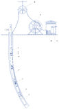 Schematic of an oil well Royalty Free Stock Photo