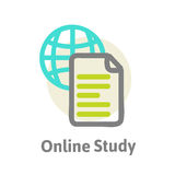 Schematic representation of the online learning Stock Image