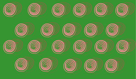 Schematic roses pattern. On the green background Royalty Free Stock Image